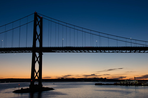 dartmouth halifax harbour bridge sunset shannonpark summer 2020