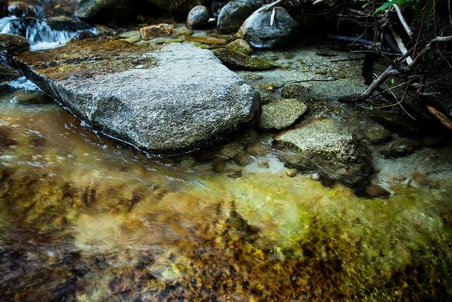 Splashing over Rocks