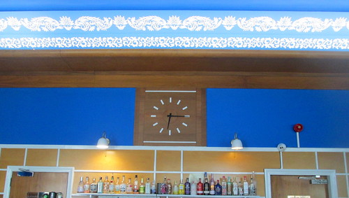 Main Bar and Clock, Carron Restaurant, Stonehaven