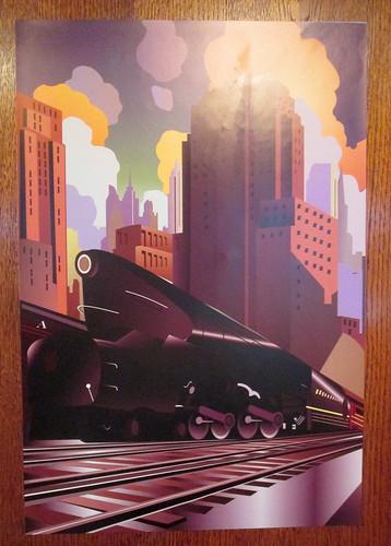 Art Deco Poster, Carron Restaurant, Stonehaven