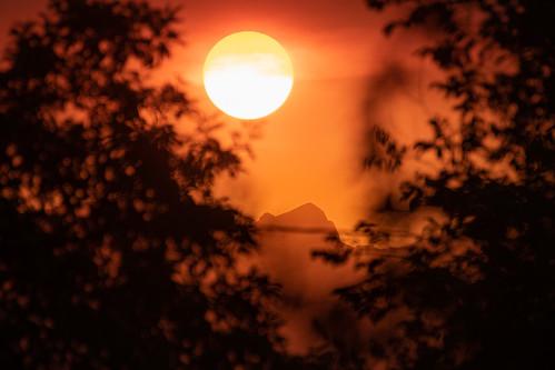 haze mountains colorado boulder smoke sunset orange rockymountains landscape nikon