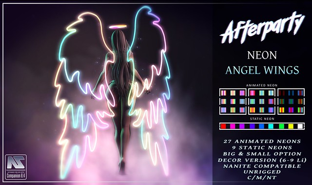 Afterparty - Neon Angel Wings [GIVEAWAY CLOSED]