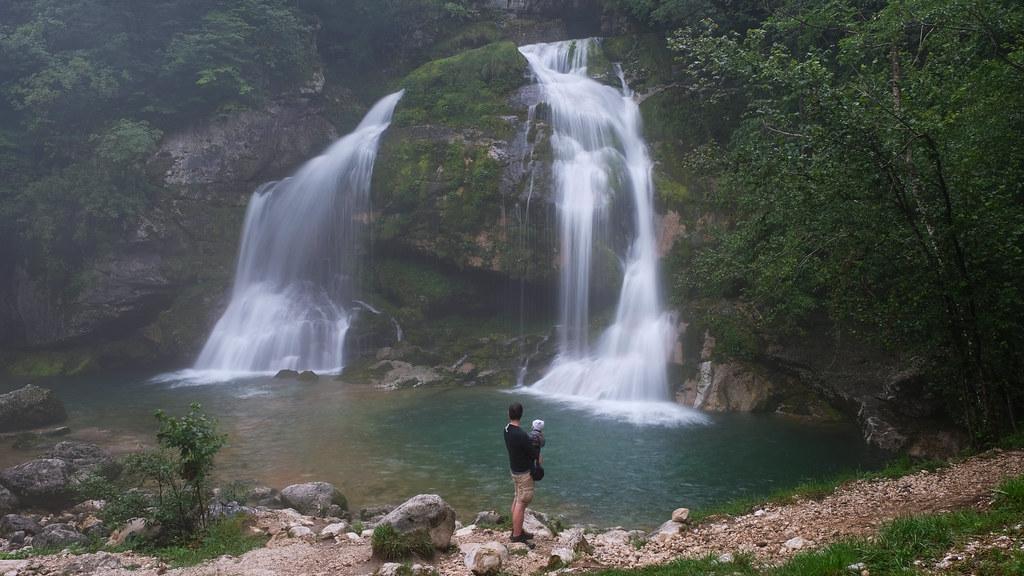 Rainy Day In The Mountains: Virje waterfall, Soca Valley, Slovenia
