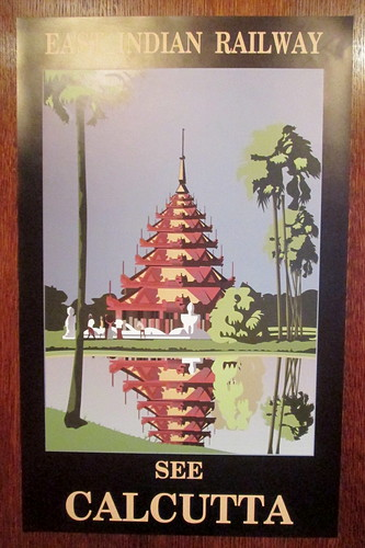 Art Deco Poster of Calcutta, Carron Restaurant, Stonehaven