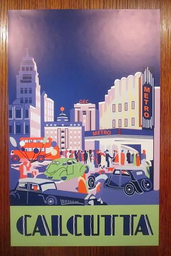 Art Deco Poster Showing Calcutta in Carron Restaurant, Stonehaven