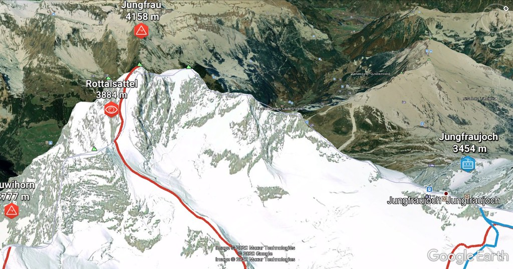 Jungfrau Berner Alpen / Alpes bernoises Schweiz foto 03