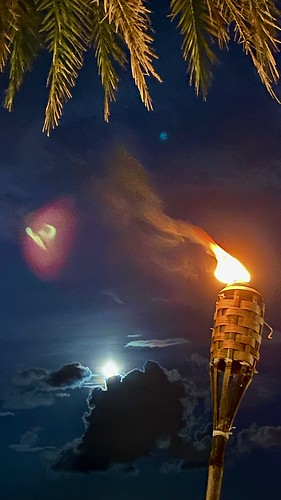 Tiki Torch and Moon