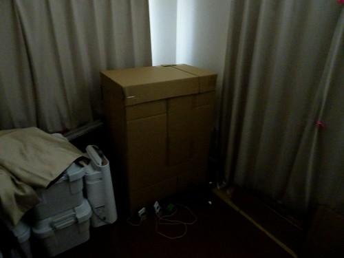 コザクラインコの発情抑制のための完全暗室ダンボール部屋