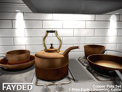 FAYDED - Copper Pots Set