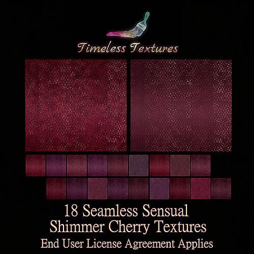 TT 18 Seamless Sensual Shimmer Cherry Timeless Textures