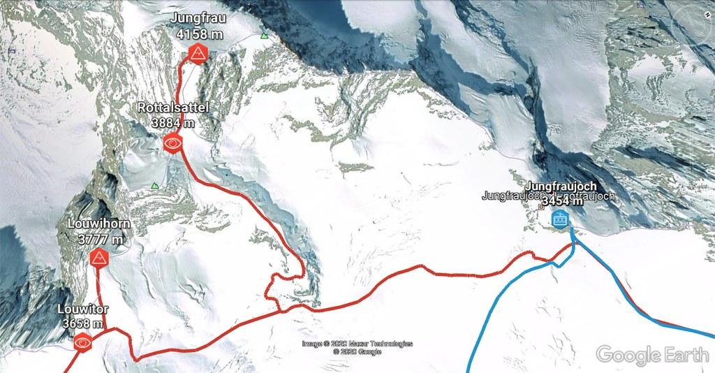 Jungfrau Berner Alpen / Alpes bernoises Schweiz foto 01