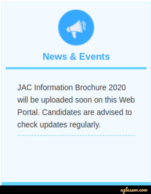 JAC Chandigarh 2020 - Chandigarh Engineering & Architecture Admission