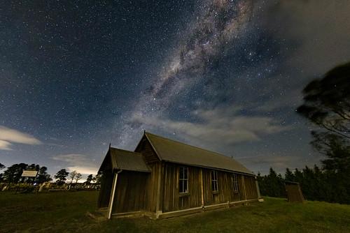 newsouthwales australia nsw church cemetery sydney oaks camden milky way long exposure r5 canon night astro astrolandscape