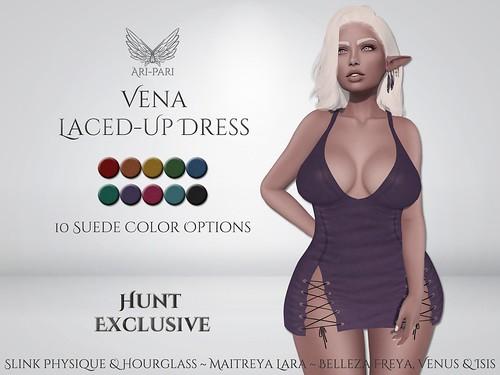 [Ari-Pari] Vena Laced-Up Dress