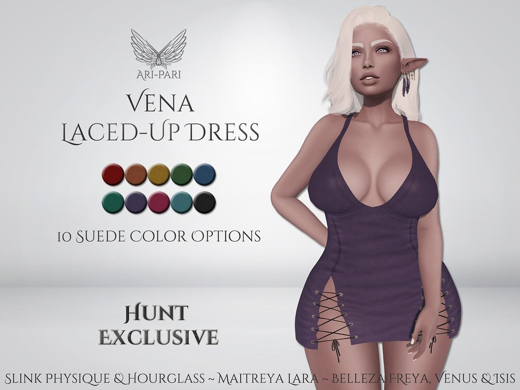[Ari-Pari] Vena Laced-Up Dress