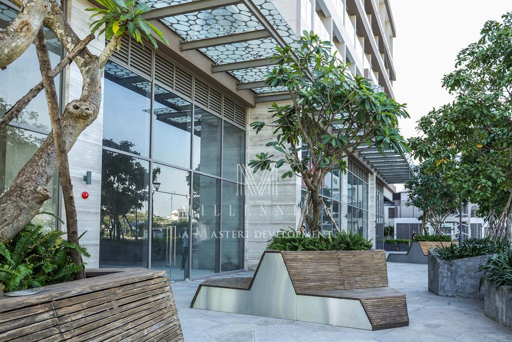 Khu ghế nghỉ nội khu trong dự án Millennium q4.