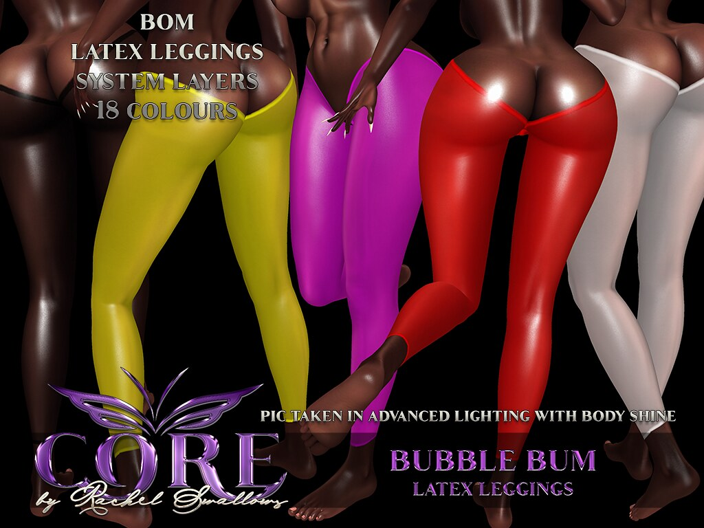 CORE by RACHEL SWALLOWS BUBBLE BUM LEGGINS