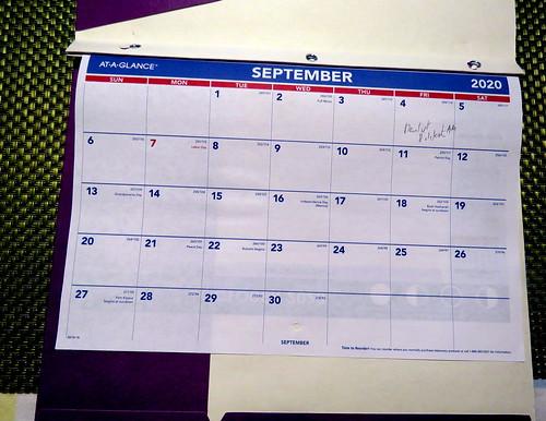 September 2020 Diary