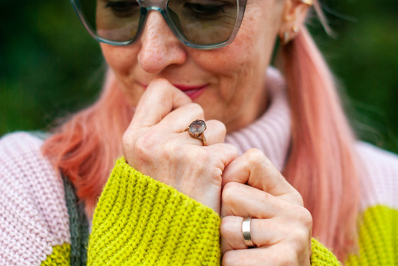 Style Over 40: Pink Checks, Pink Stripes & Lots of Texture | Not Dressed As Lamb