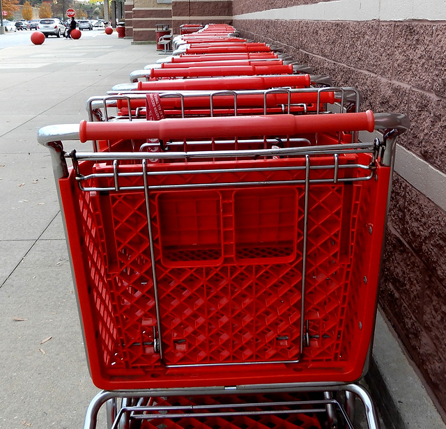 lots of Target shopping carts, Anderson