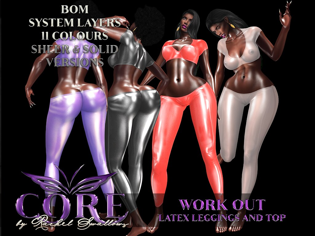 CORE by RACHEL SWALLOWS WORK OUT TOP & LEGGINGS