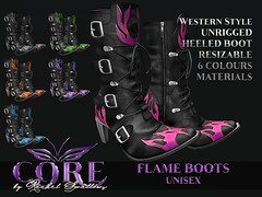 CORE by RACHEL SWALLOWS FLAME BOOTS