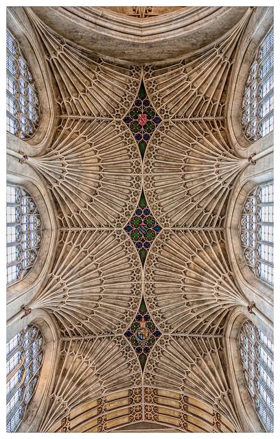 The ceiling of Bath Abbey
