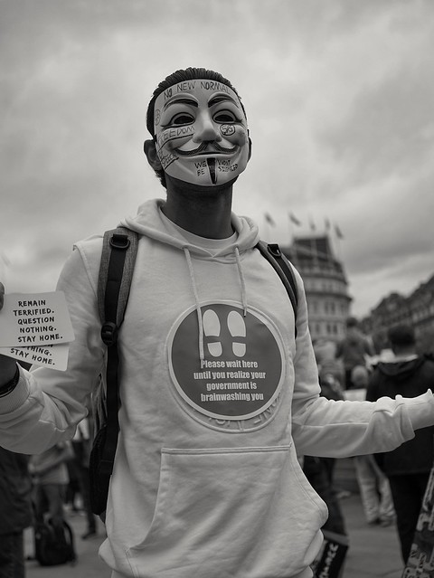 No more mask wearing protest London UK