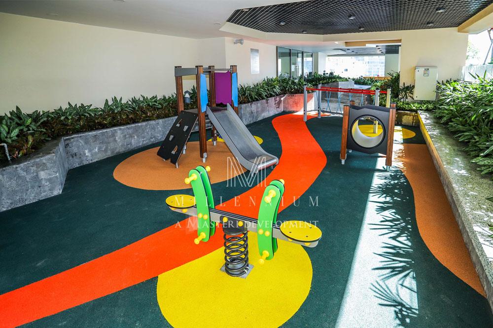 Khu vui choi dành cho trẻ em trong chung cư hạng sang Millennium quận 4.