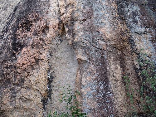Équipements sur la partie droite de la falaise centrale