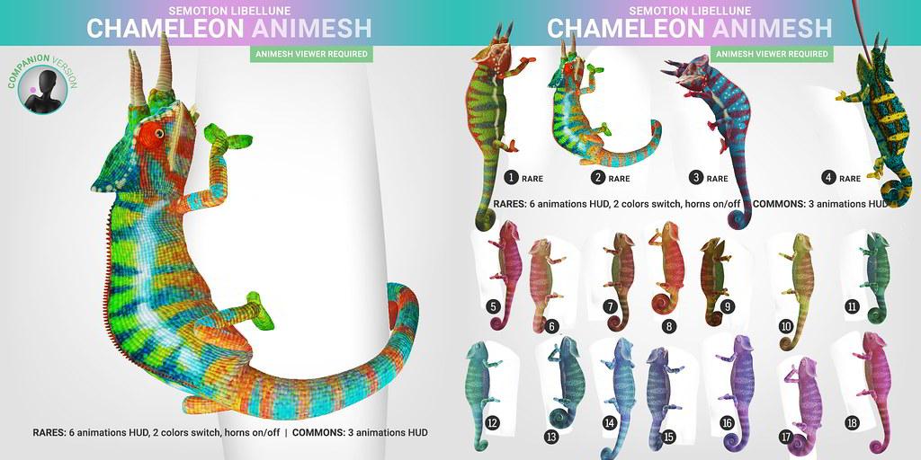 SEmotion Libellune Chameleon Animesh