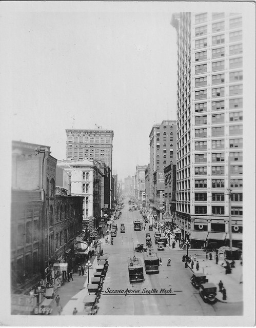 2nd and Yesler, Seattle, c1922