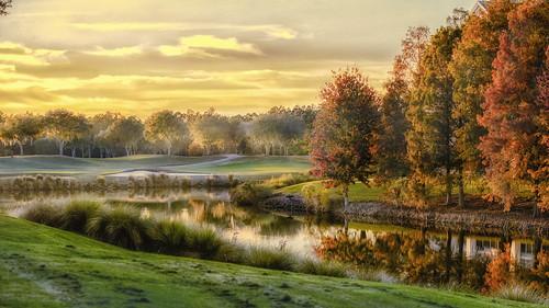 autumn worldgolfvillage fall sunset golf olgaiordanov orange red florida
