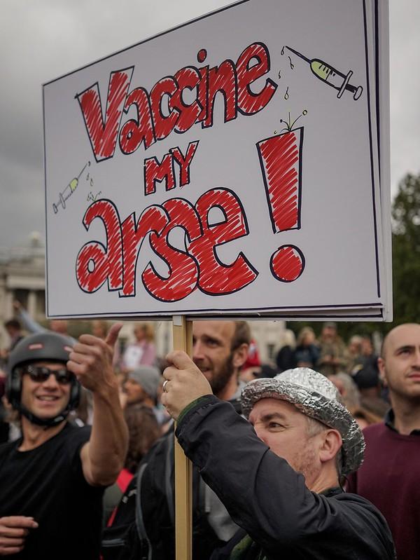 London No masks demonstrations.