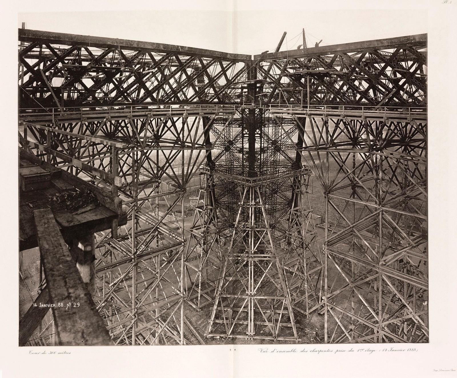 01. 1888. 14 января. Общий вид каркаса с первого этажа