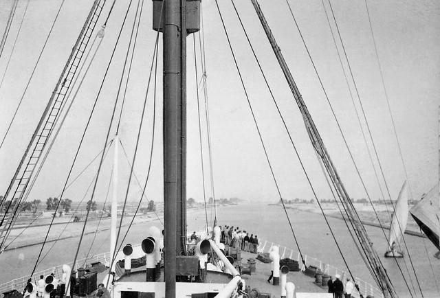 War is over: homeward bound, Suez Canal, 1945