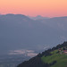 Sunrise high up in the Drau valley