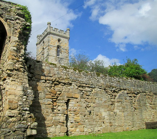 Culross Abbey Wall, Tower, Fife, Scotland