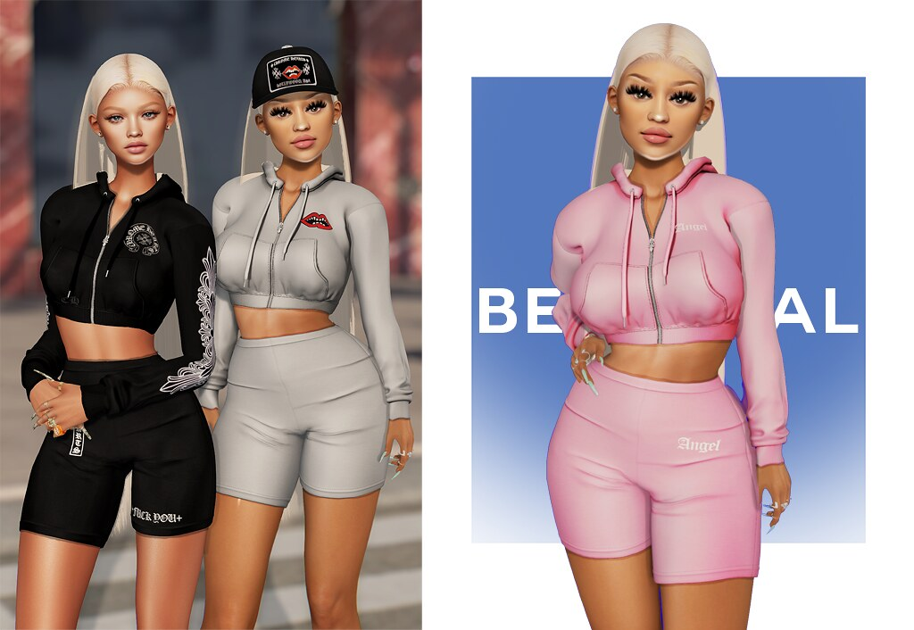 Gia Hoodie & Shorts @ LEVEL