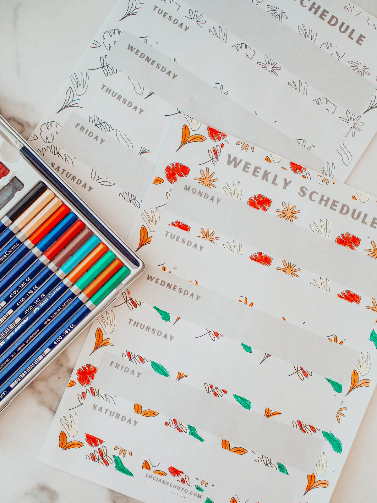 Fall Colouring Planner