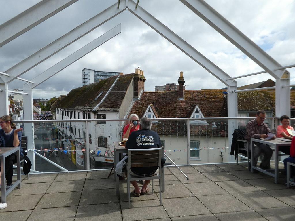 Poole Museum terrace cafe