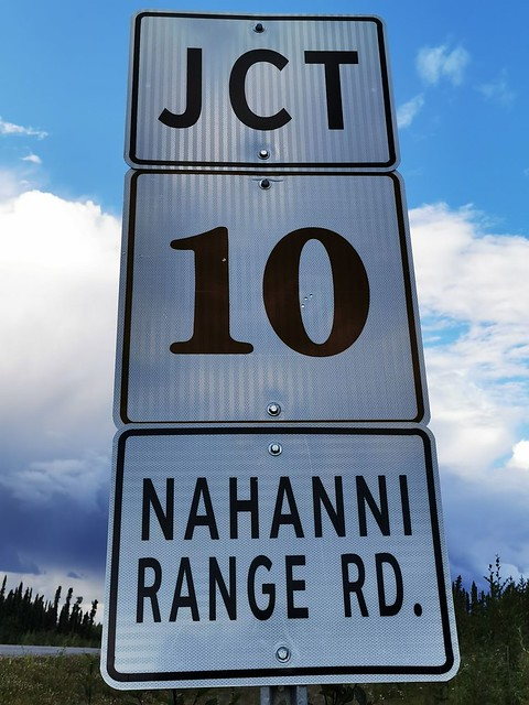 Nahanni Range Road.  Yukon Highway Number 10 to the Flat River (Nahanni River) Headwaters, Northwest Territories, Canada.
