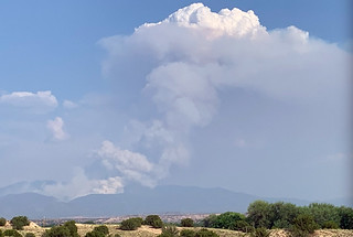 images of smoke from the Medio Fire