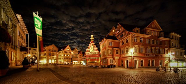 Esslingen, Marktplatz, nachts