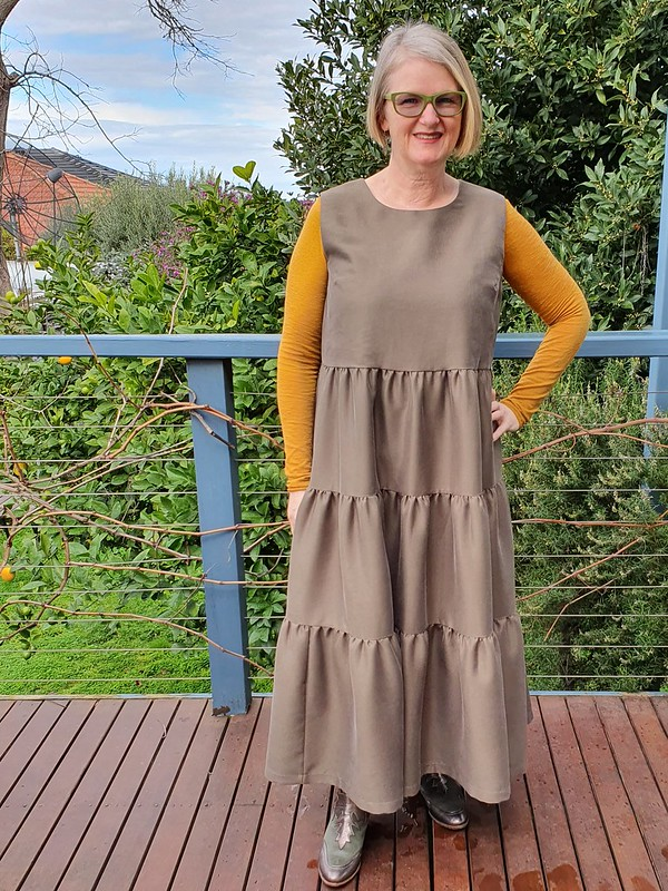 Style Arc Nova midi dress in textured tencel from Super Cheap Fabrics