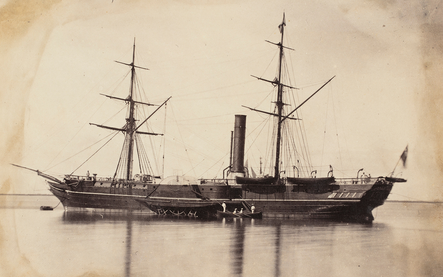 Paddle Steamer, [possibly HMS Torch], c. 1858