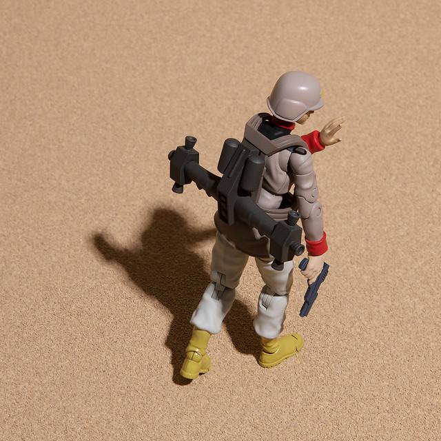 人氣第二彈!G.M.G.《機動戰士鋼彈》地球聯邦軍「一般士兵 01~03」1/18 比例可動人偶