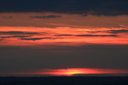 royston sunset therfieldheath hertfordshire england unitedkingdom uk orange red sky clouds canoneos750d