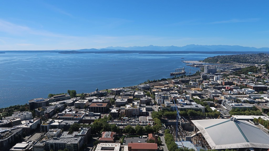 View from Space Needle in Seattle, WA