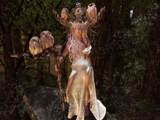 Blodeuwedd: The Flower Owl Goddess = #SundayFunday Photography Challenge =Fantasy Wonderland!